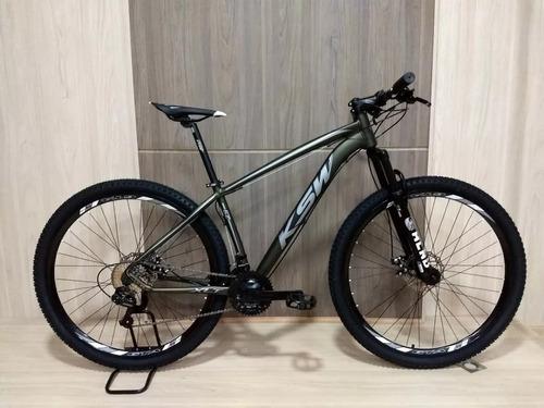 bicicleta mtb alum 29 ksw 24 vel xlt shimano e freio disco.
