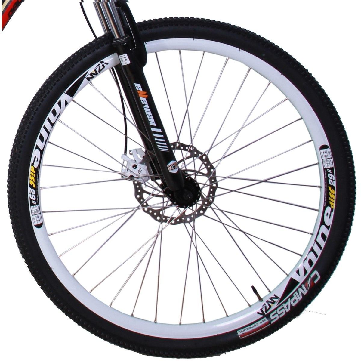 492a118d3 bicicleta mtb alumínio 21v aro 29 duplo freio a disco preta. Carregando  zoom.