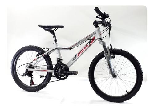 bicicleta mtb andes rodado 20 14 velocidades shimano
