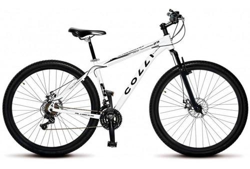 bicicleta mtb aro 29 21 marchas kit shimano colli - branco