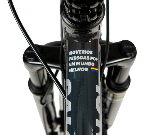 bicicleta mtb caloi rainbow aro 29 - susp dianteira - 21 vel