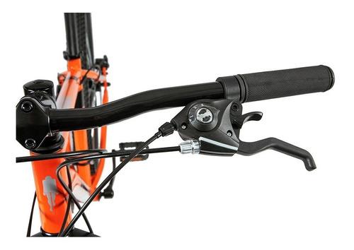 bicicleta mtb caloi two niner alloy aro 29 - 21 vel laranja