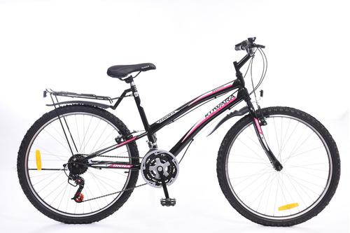bicicleta mtb kuwara new onna dama rodado 26  negra