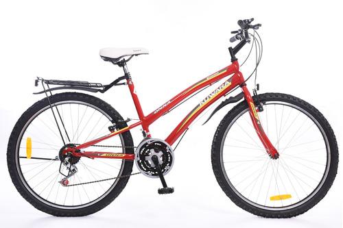 bicicleta mtb kuwara new onna dama rodado 26  roja
