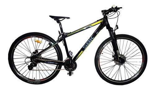 bicicleta mtb rodado 29 aluminio 21 vel shimano sbk