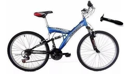 bicicleta mtb topmega spread doble suspensión r20 18v gris