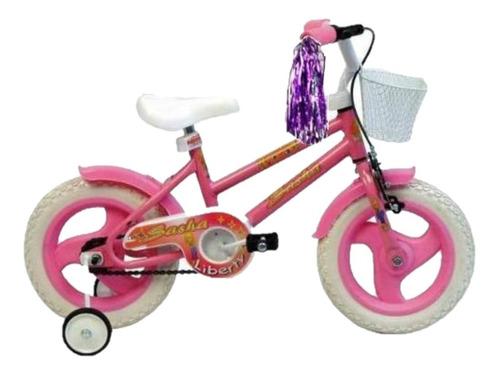 bicicleta nena niña cross liberty sasha r12 +ruedas +canasto