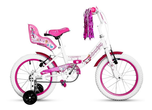 bicicleta nena niña cross top mega princes r16 bmx + luz led