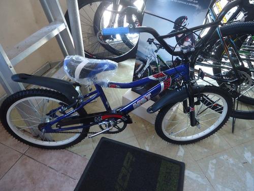 bicicleta nene musetta viper rodado 20 azul - racer bikes