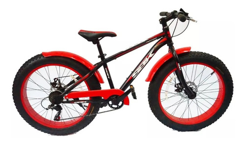 bicicleta nene sbk fat 24 ruedas gordas disco - racer bikes