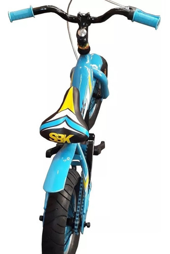 bicicleta nene sbk fat rodado 12 celeste ruedas gordas + luz - racer bikes