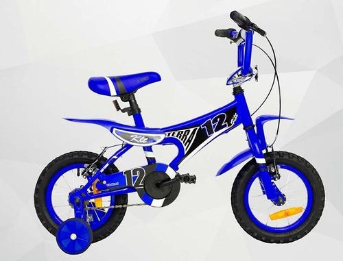 bicicleta nene x-terra klt rodado 12 amarilla  - racer bikes