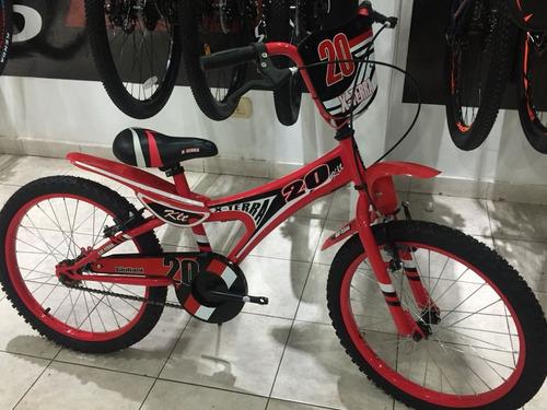 bicicleta nene x-terra klt rodado 20 roja - racer bikes
