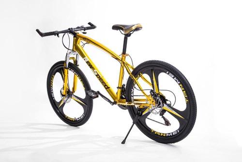 bicicleta new speed leopard aro 26  21 marchas freio a disco