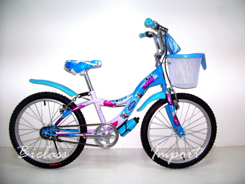 bicicleta niña campera aro 20/16/12 piezas aluminio canasta