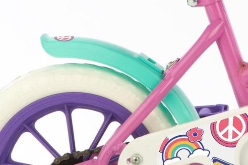 bicicleta niña rosa nena rodado 12 infantil love violeta