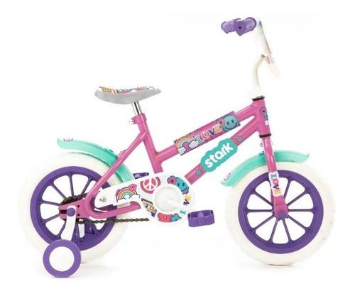 bicicleta niña rosa violeta nena rodado 12 infantil love