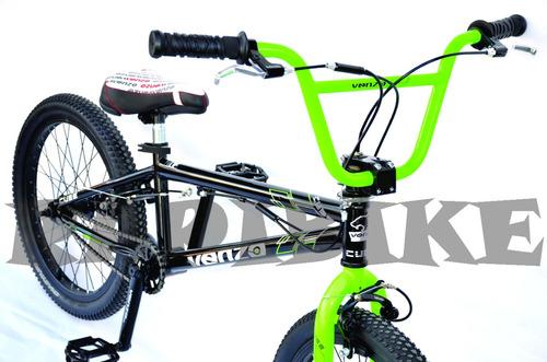 bicicleta niño bmx freestyle venzo cube rodado 20 12 cuotas