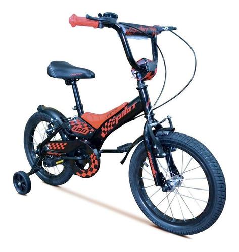 bicicleta niño gw pilot 16  freno apoyaruedas pito bmx