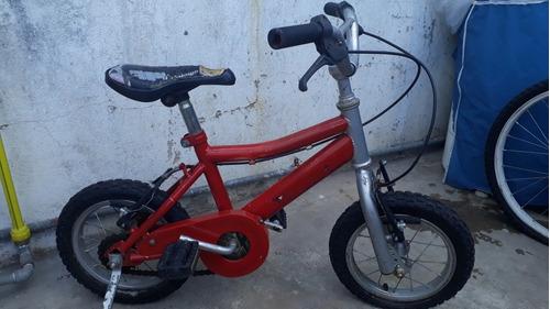 bicicleta niño rodado 12 con rueditas.