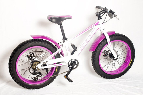 bicicleta niños fat bike rodado 20 bikernet