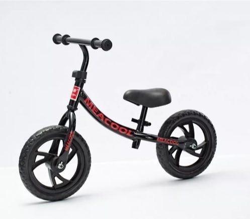bicicleta niños sin pedal r12 celeste blanca negra roja pcm