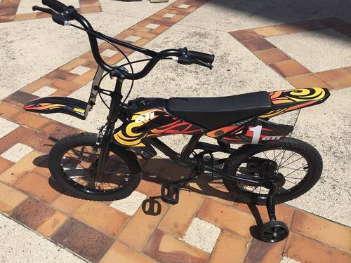 bicicleta niños tipo moto aro 16 nuevas de paquete