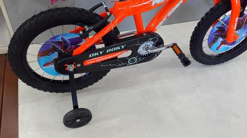 bicicleta okydoky pelata rodado 16 moderna 2019 envio