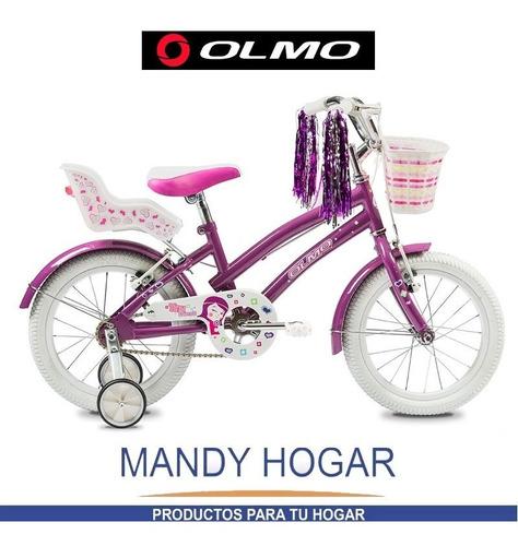 bicicleta olmo rod.16 tiny friends- enviogratis-mandy hogar