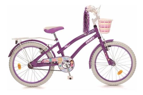 bicicleta olmo rodado 20 nuevas nenas tiny dancers violeta