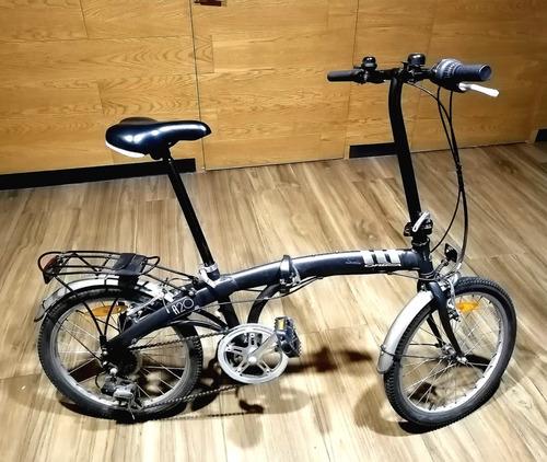 bicicleta orbea a20 plegable (gris oscuro)