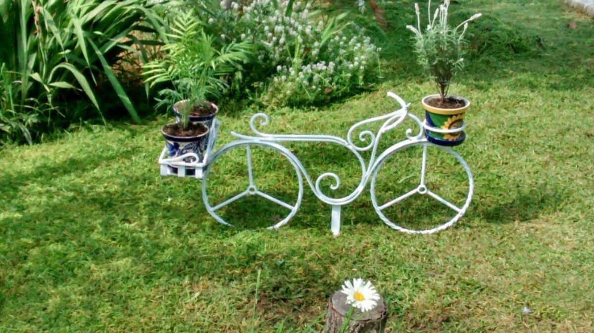 Bicicleta para jardin vintage de herreria 2 en - Bicicleta macetero ...