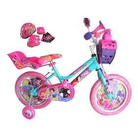 Bicicleta Para Niña Con Kit De Seguridad Rin 16