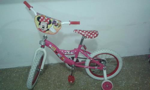 bicicleta para niña de la minnie mouse