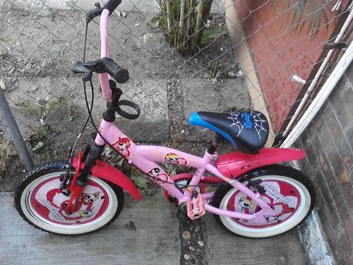 bicicleta para niña de las chicas superpoderosas
