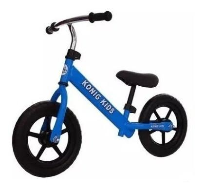 bicicleta  para niños sin pedales azul y rojo