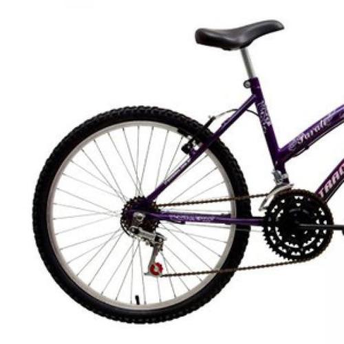 bicicleta parati aro 24 18 marchas lilás/branco track&bikes