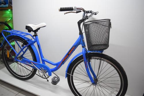 bicicleta paseo dama bruzzoni primavera aluminio r26 full