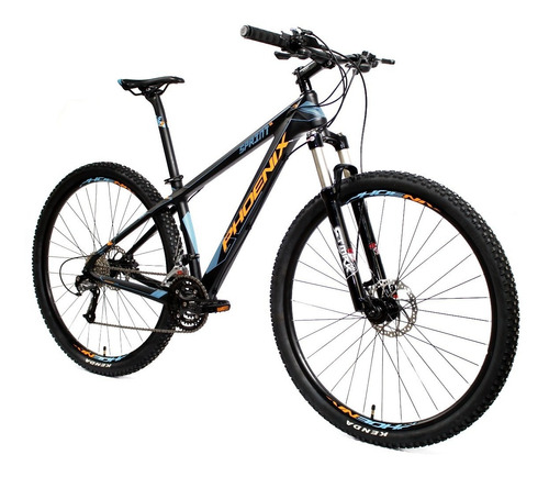 bicicleta phoenix rodado 29  fibra carbon freno hidraulico