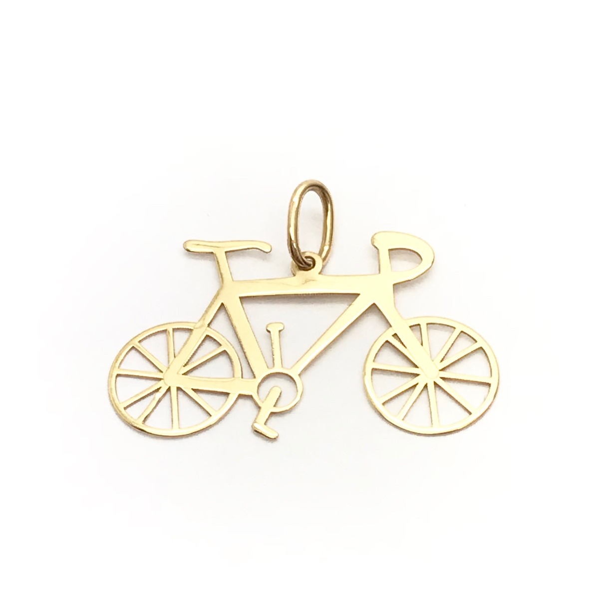 b964f951278 Bicicleta Pingente Bike Atleta Ouro 18k Com Corrente Fitines - R ..