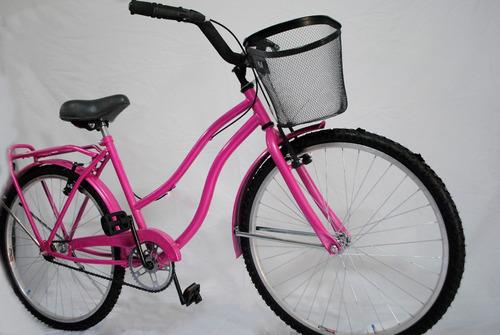 bicicleta playera dama full asiento con resortes trp bikes