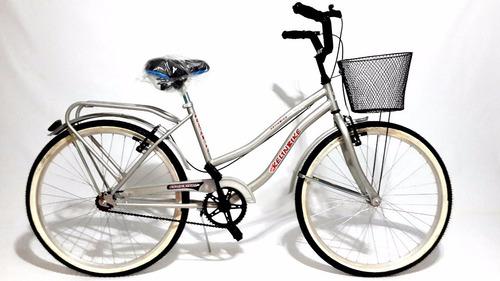 bicicleta playera full rodado 26 dama gris kelinbike