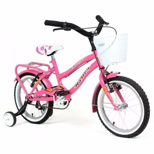 bicicleta playera halley 19058 rodado 16 nena canasto oferta