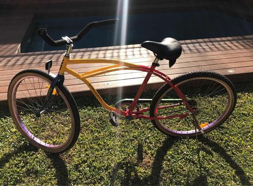 bicicleta playera impecable rodado 26 contrapedal castelar