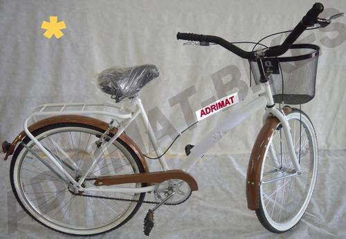 bicicleta playera-paseo-dama full de lujo -la mejor- rod 26-
