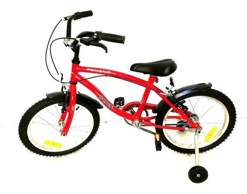 bicicleta playera rod. 16 robinson c/ estabilizadores