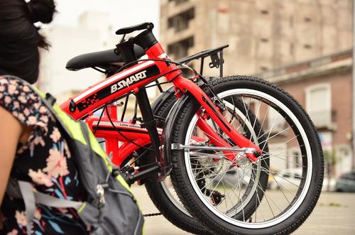 bicicleta plegable bsmart rodado 20 aluminio shimano premium