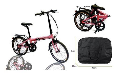 bicicleta plegable de aluminio con bolso incluido nuevas