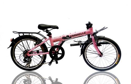 bicicleta plegable de aluminio inoxidable dama - nuevas