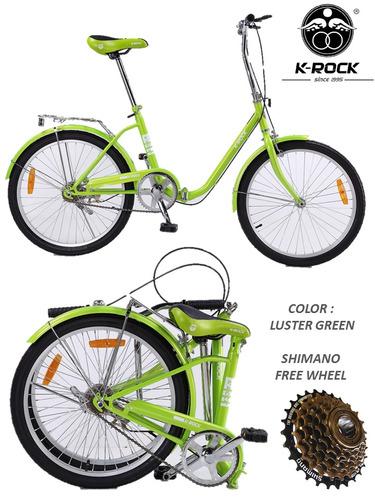 bicicleta plegable krock ligera retro vintage r22 shimano ms